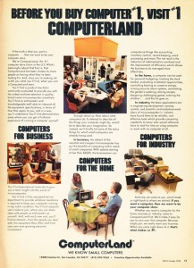 October 1978 magazine ad for Computerland