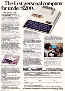 Sinclair ZX80 Ad
