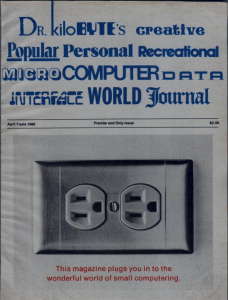 Creative Computing's April 1980 (April Fool's) parody cover