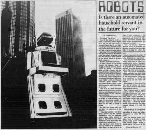 Article about the DC-2 Robot (1982)