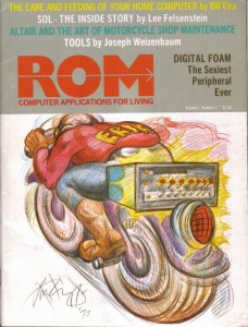 First Issue Cover of ROM Magazine